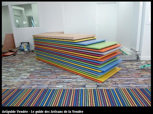 Création et fabrication du bureau d'accueil du collège Villebois Mareuil 85607 MONTAIGU